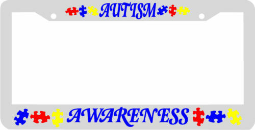 AUTISM AWARENESS puzzle License Plate Frame   eBay