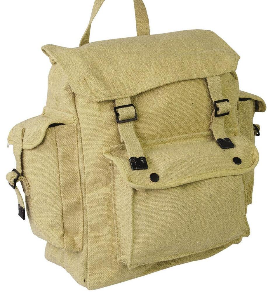 retro backpack military vintage bag rucksack satchel. Black Bedroom Furniture Sets. Home Design Ideas