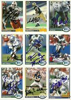 1991 Upper Deck MIKE PRITCHARD Signed Card FALCONS rc
