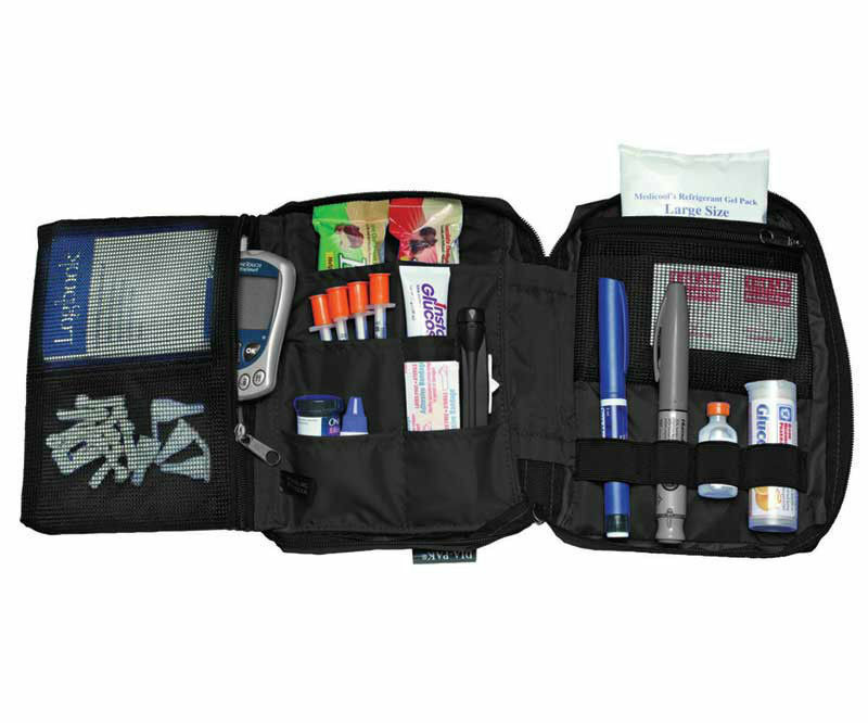 Diabetic Deluxe Diabetic Carrying Case Organizer Black