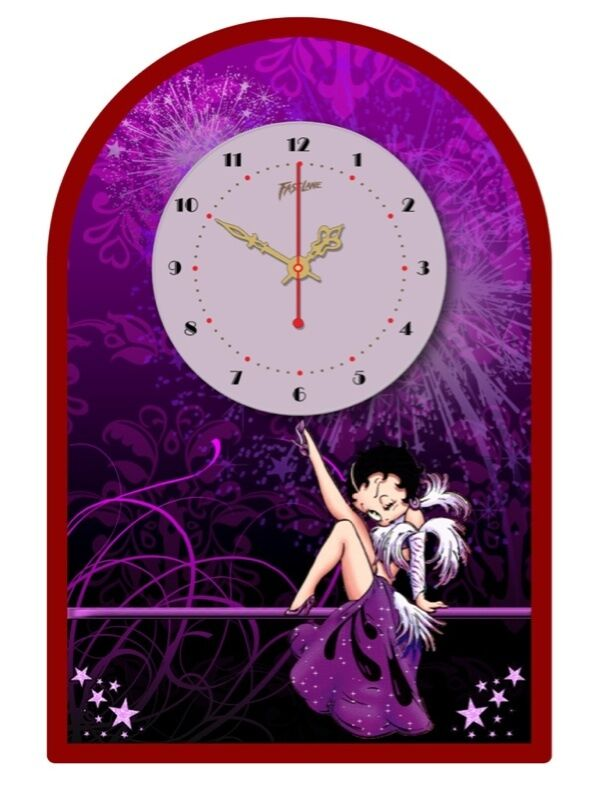 betty boop tin sign clock retro style vintage betty ebay. Black Bedroom Furniture Sets. Home Design Ideas