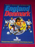 PROGRAMME - ENGLAND v DENMARK - March 9 1994