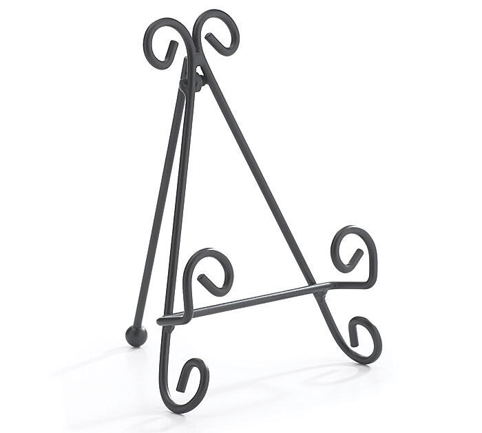 Steel Stand Designs Inc : One metal scroll design easel stand small plate