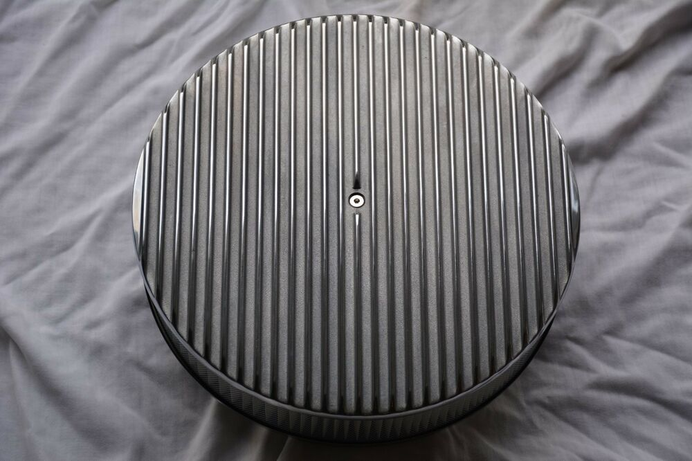 Finned Air Cleaner : Quot raised finned aluminum air cleaner filter recessed ebay