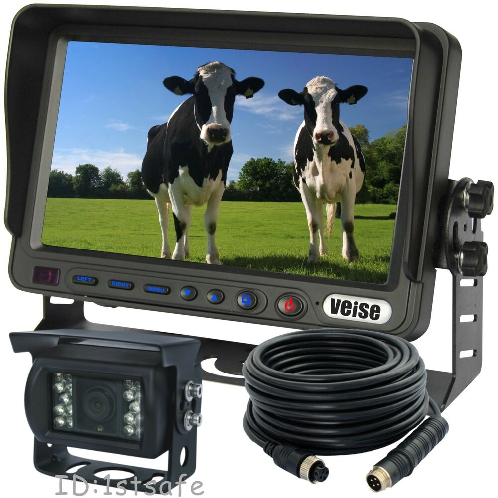 Farm Tractor Cab Back Up Rear View Ccd Camera Video System