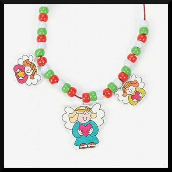 Necklace craft kit for kids christmas angel abcraft ebay for Necklace crafts for kids