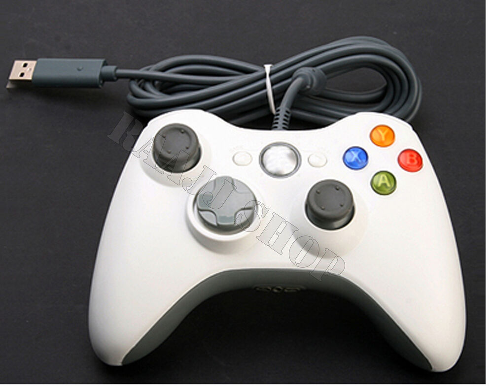 BRAND NEW WHITE WIRED CONTROLLER FOR MICROSOFT Xbox 360 PC ...