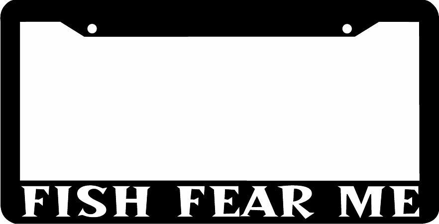 Fish fear me license plate frame ebay for Buy fishing license near me