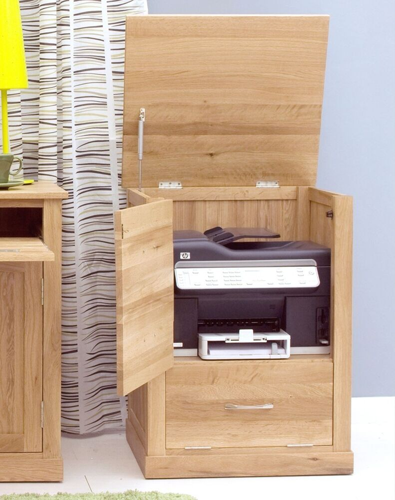 Mobel Solid Oak Office Furniture Printer Storage Cupboard