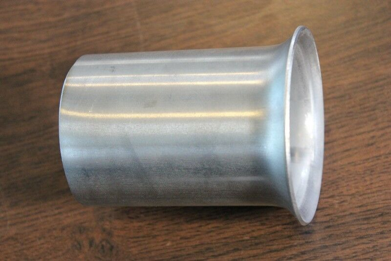 Flared end exhaust reducer stainless steel connector pipe