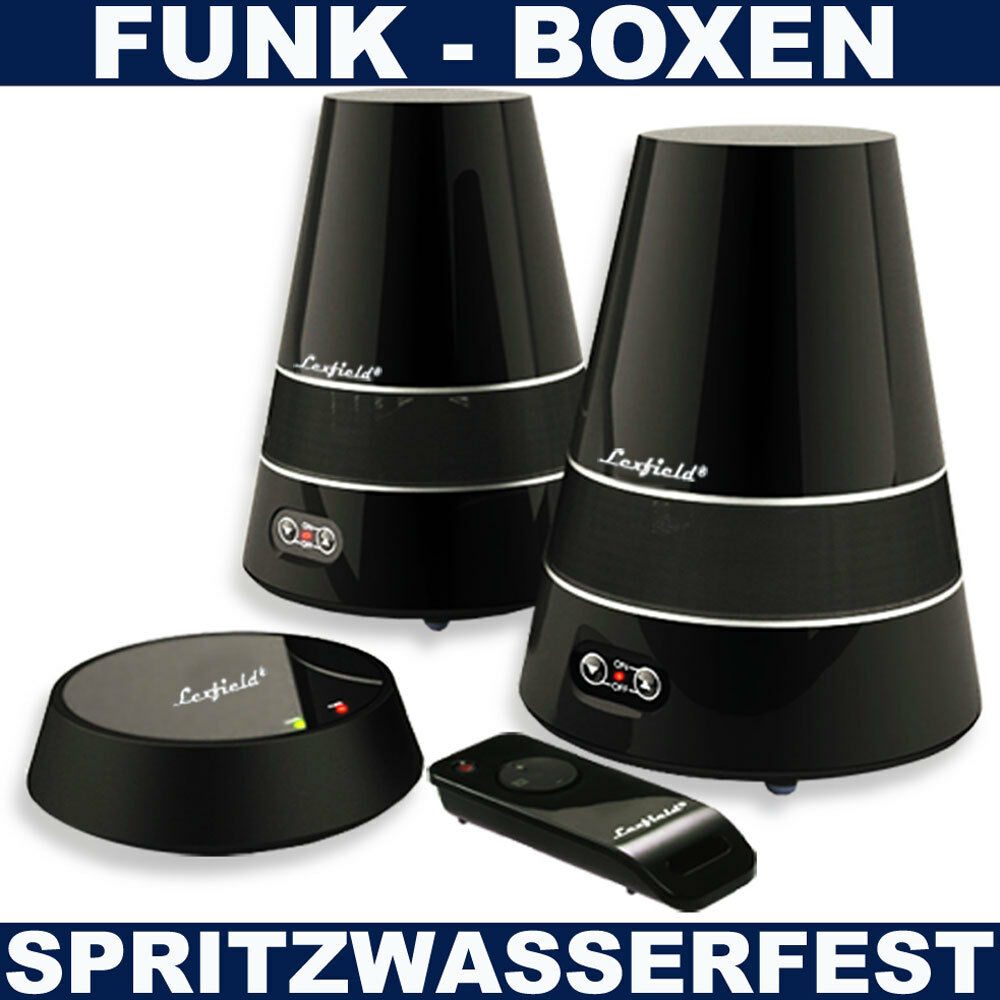 aktiv wireless boxen funk lautsprecher spritzwasserfest. Black Bedroom Furniture Sets. Home Design Ideas