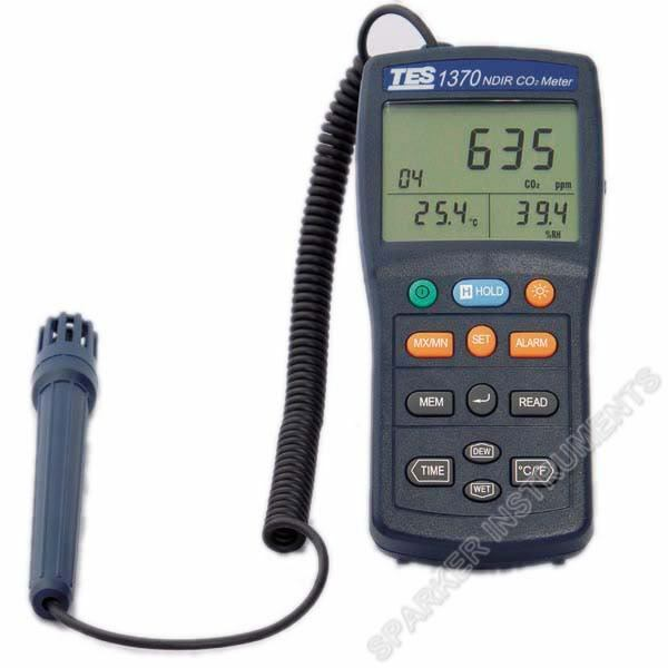 tes1370 ndir co2 analyzer temperature humidity meter. Black Bedroom Furniture Sets. Home Design Ideas