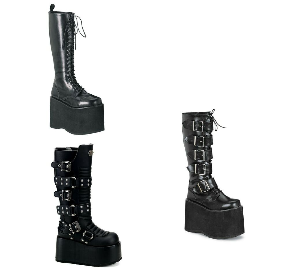 Demonia Men S Unisex Halloween Boots Chopper 100 Ripsaw