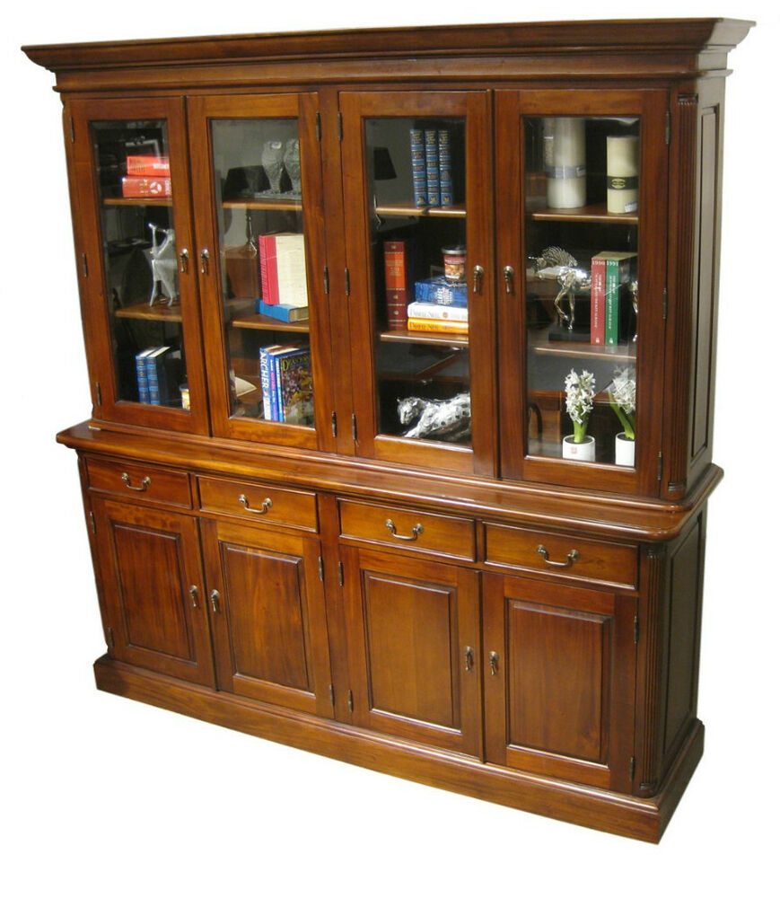 door bookcase bookshelf executive office furniture mahogany ebay