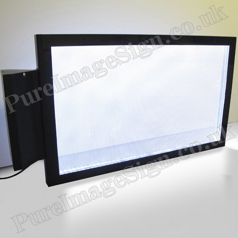 Outdoor Shop Sign Lights: LED Double Sided Indoor Shop Rectangular Illuminated