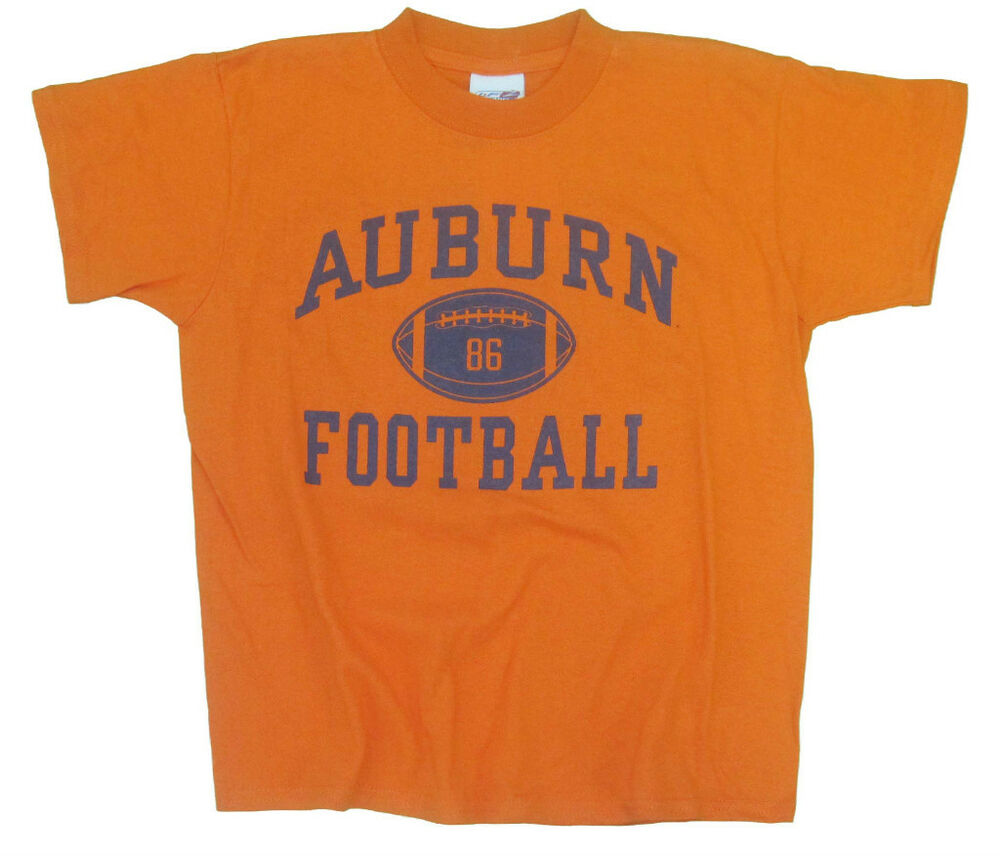 Auburn tigers youth orange football t shirt with front for Auburn tigers football t shirts