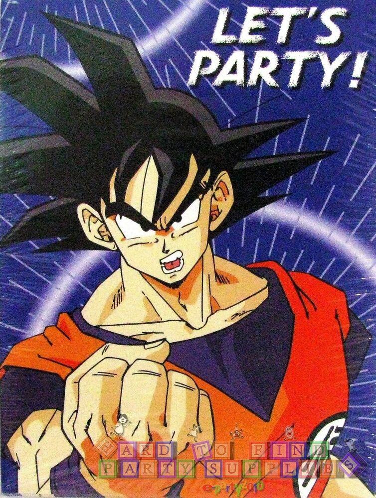 Dragon ball z invitations 8 anime birthday party for Dragon ball z decorations