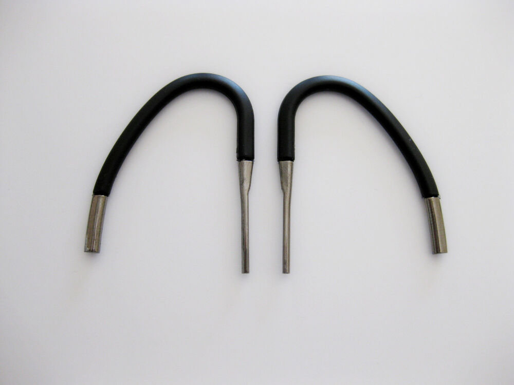 2 new black ear hooks loops clips for blue ant q2 bluetooth headset blueant q2 ebay. Black Bedroom Furniture Sets. Home Design Ideas