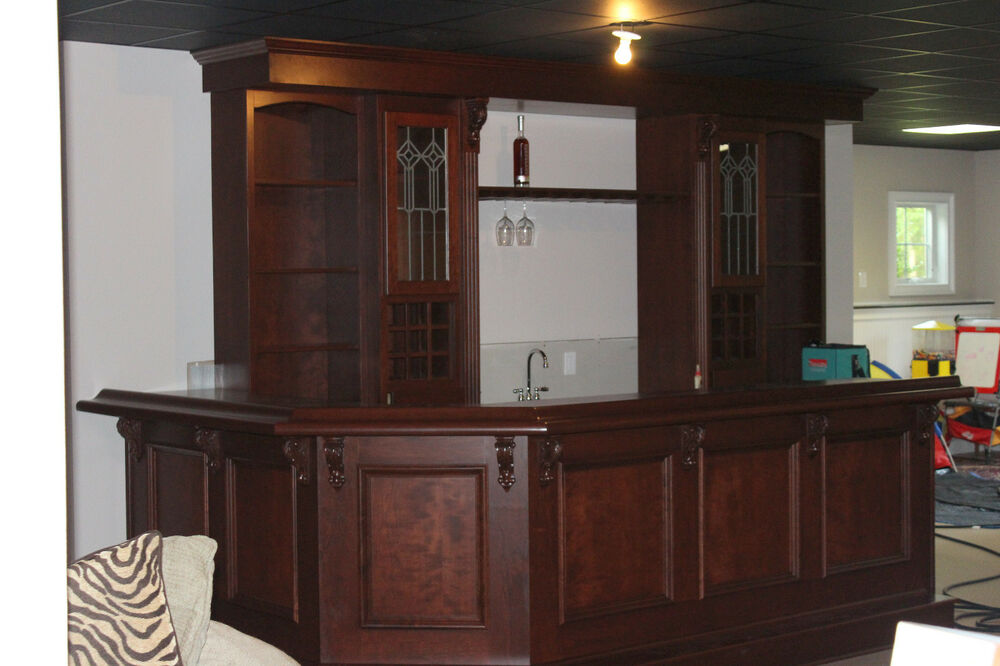 Custom Built Home Bar   Basement Pub | EBay