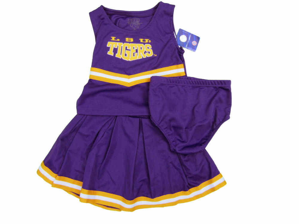 LSU TIGERS 3-PIECE TODDLER CHEERLEADER OUTFIT NWT | eBay