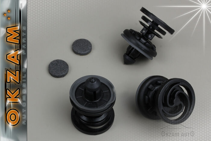 Ford Focus Interior Door Trim Panel Clips X10 Black Ebay