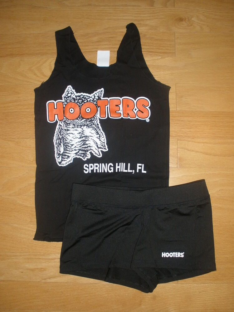 nw hooters bl uniform halloween costume new sty shorts sm