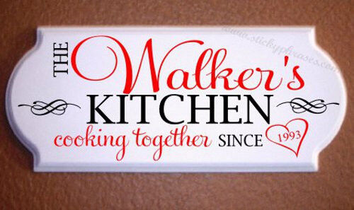 Personalized Kitchen Sign Plaque Ebay