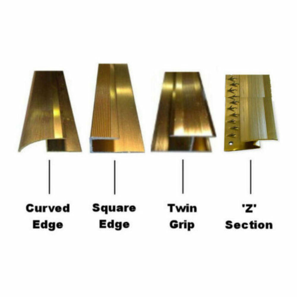 Wood Amp Laminate Flooring Trim Edging Metal Strip Gold
