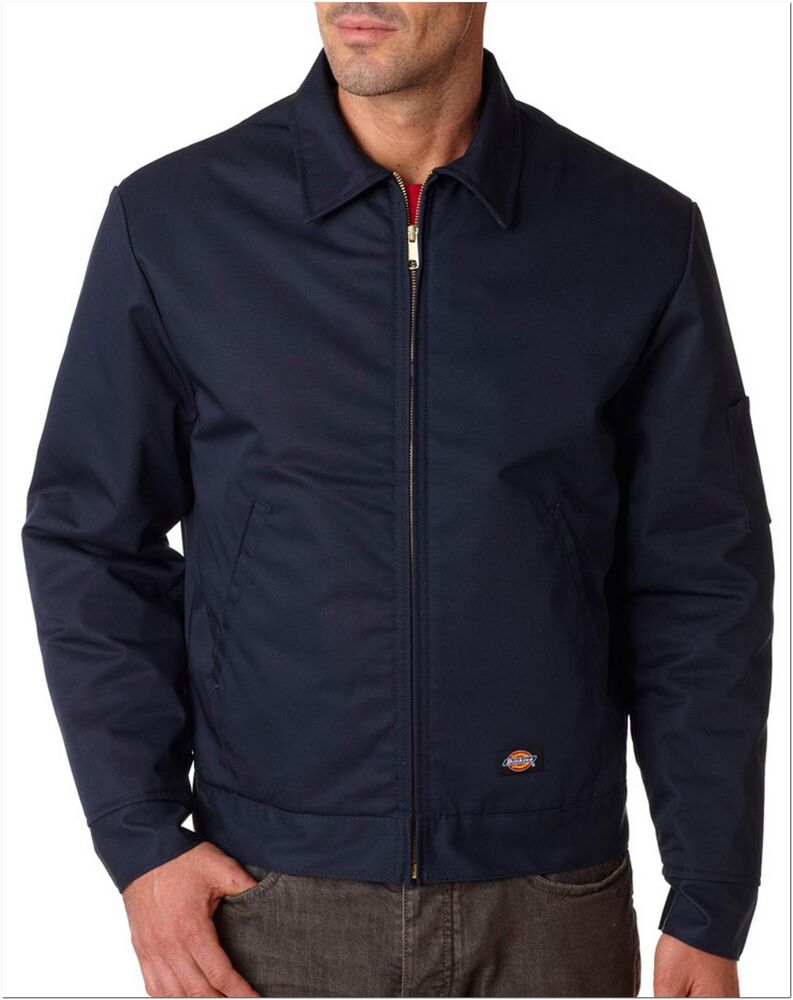 Dickies Tj15 Dark Navy Lined Eisenhower Jacket Size M 5xl Free Us Shipping Ebay