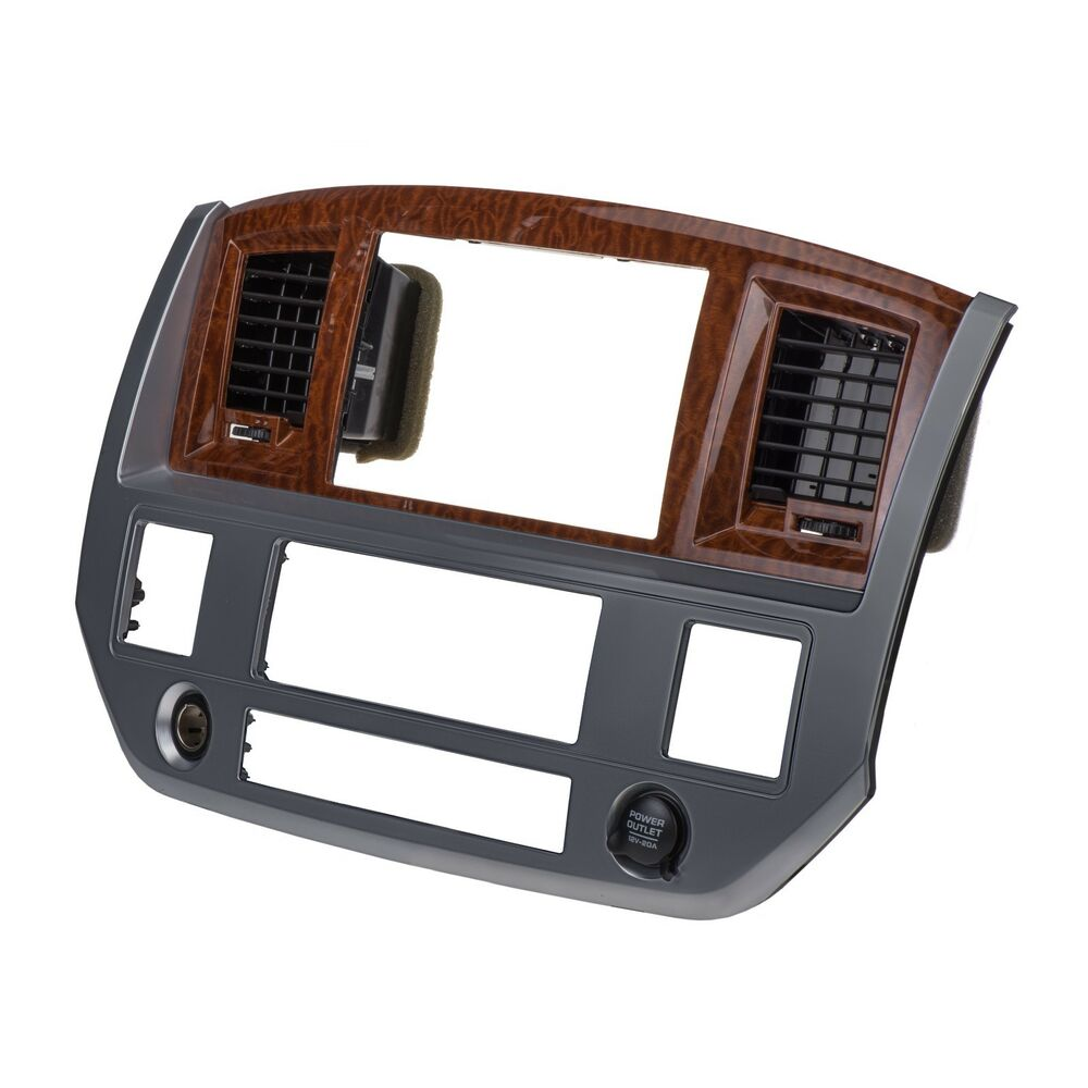 2006 2007 dodge ram radio navigation bezel woodgrain. Black Bedroom Furniture Sets. Home Design Ideas
