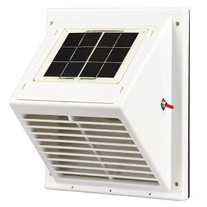 Solar Powered Attic Wall Fan Exhaust Vent Boat Caravan Pet