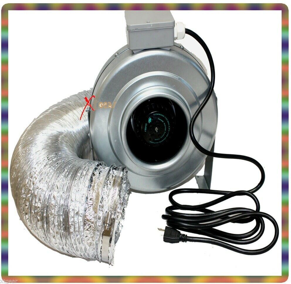 Inline Exhaust Blowers : Quot inline fan duct blower cfm hydroponics exhaust air