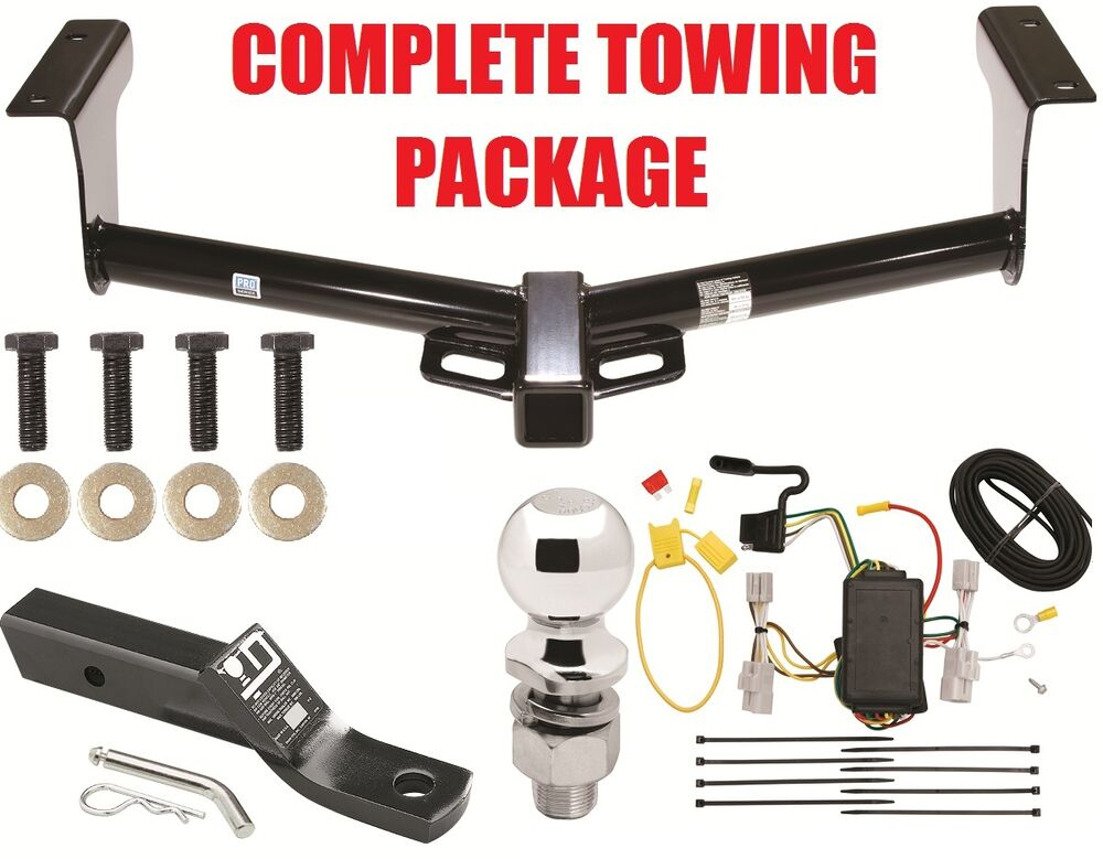 trailer hitch towing receiver w wiring harness for toyota