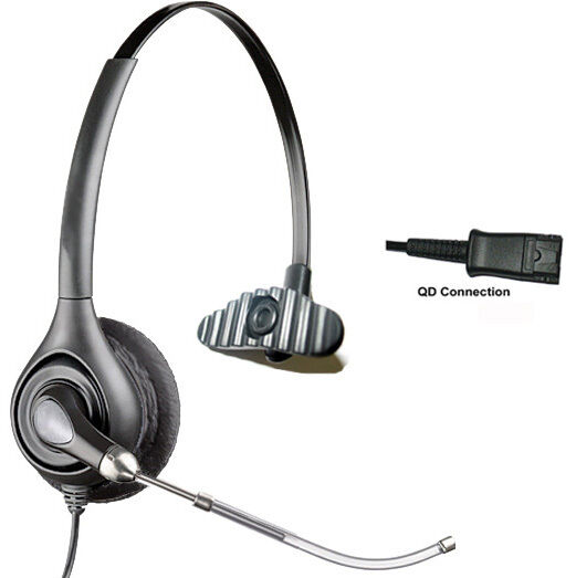 Telephone headset with 2 5mm ip cordless phone headset for office ebay - Phone headsets for office ...