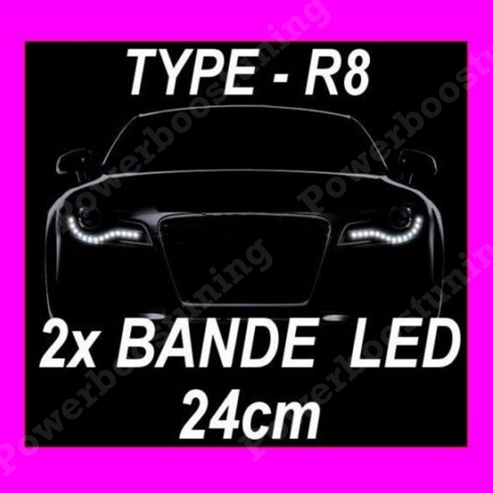 bandes a led souple feux leds de jour diurne flexible devil feu blanc type audi ebay. Black Bedroom Furniture Sets. Home Design Ideas