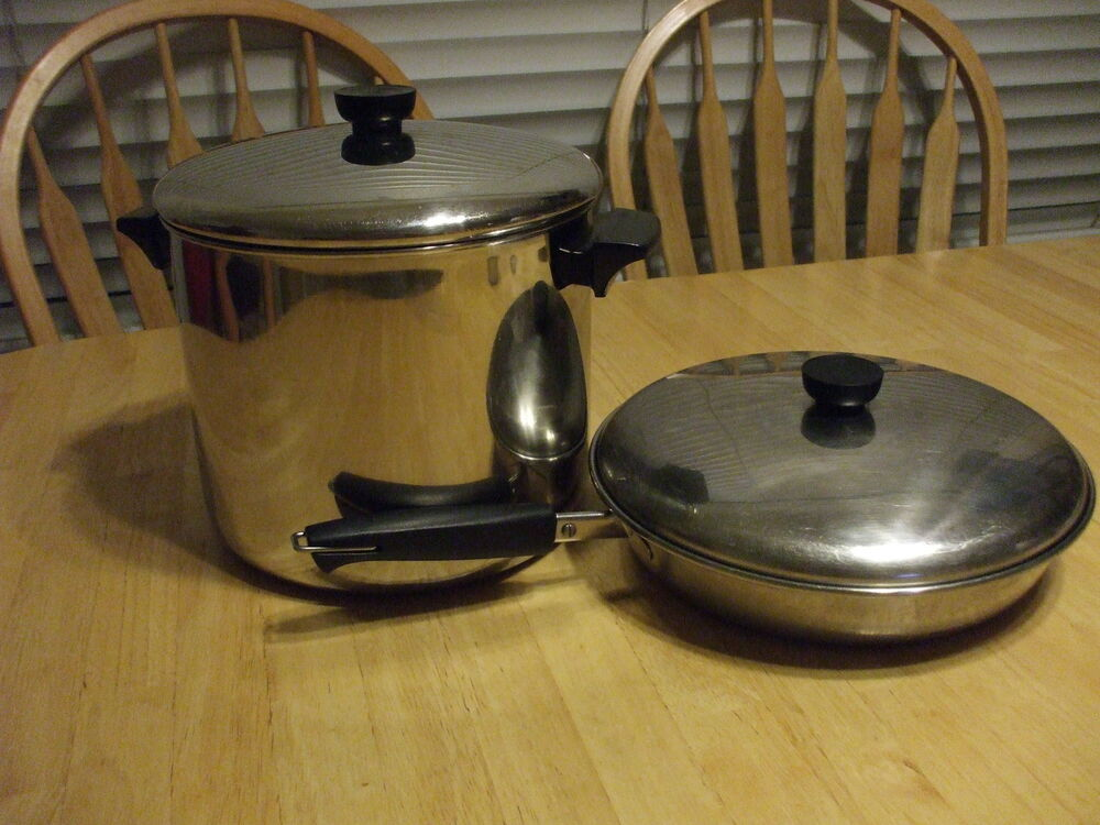 Vintage Stainless Steel 1801 Revere Ware 9 5 Quot Fry Pan