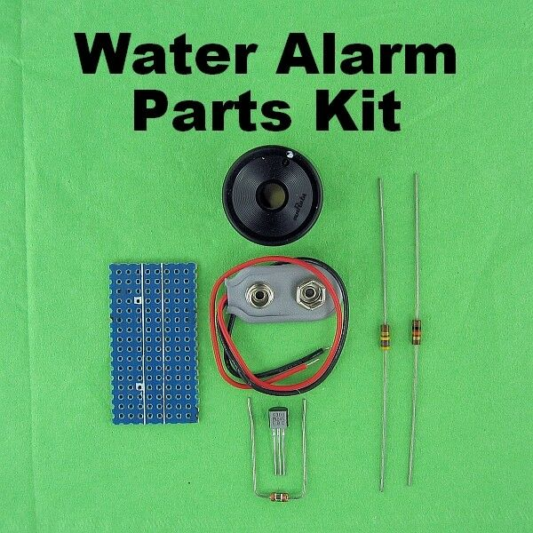 water detector alarm parts kit schematic detects wet basements sump