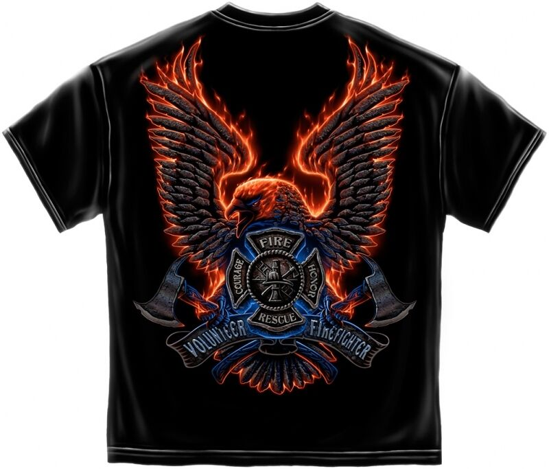 Volunteer fire rescue t shirt firefighter shirt fireman for On fire brand t shirts