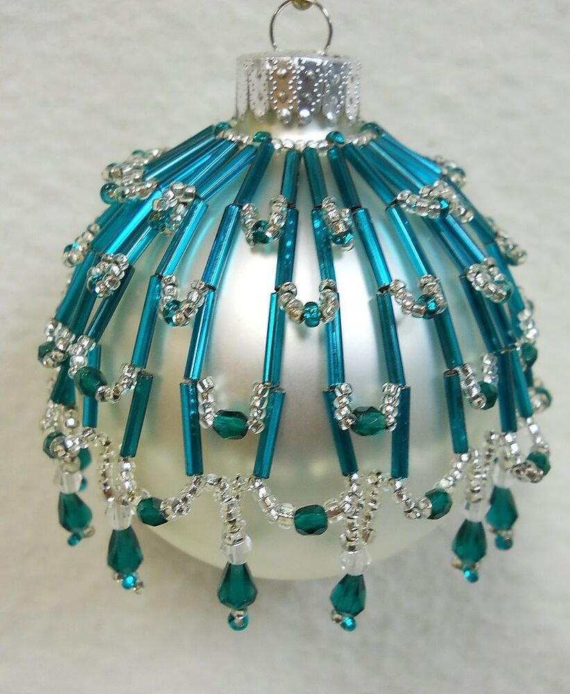 PATTERN ONLY Beaded Christmas Ornament Cover Holiday ...