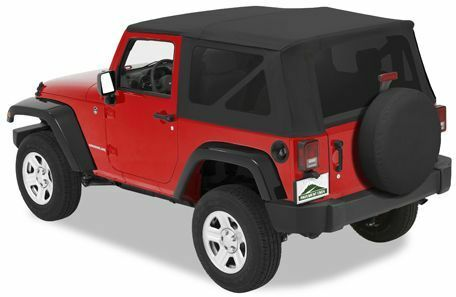2007 2009 jeep wrangler jk 2 door black replacement soft. Black Bedroom Furniture Sets. Home Design Ideas