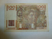 France Lot P-128e 1953 (01.10.1953) 100 Francs F-VF Add Collection