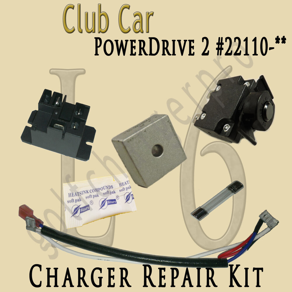 Club Car Golf Cart Powerdrive 2 Charger Repair Kit Model 22110 Schematic Level 6 Ebay