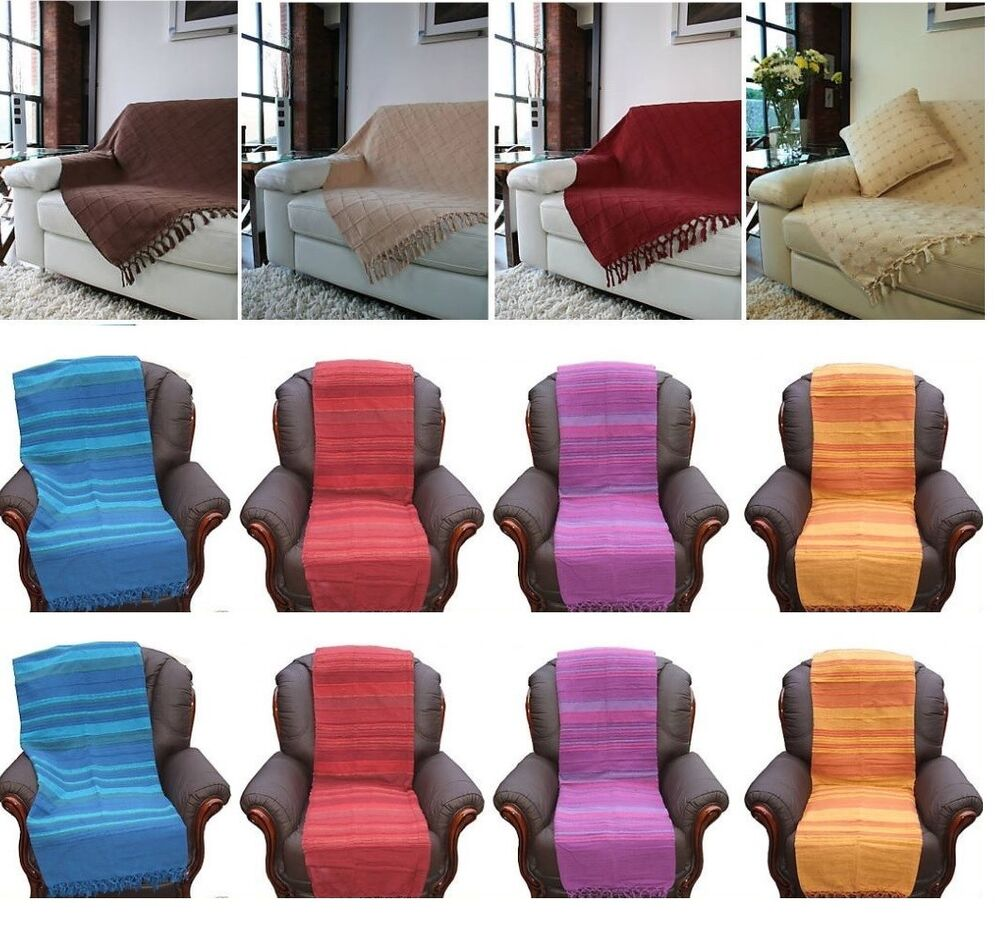 COTTON SINGLE SOFA SEAT CHAIR 1/2/3 SEATER SETTEE BED
