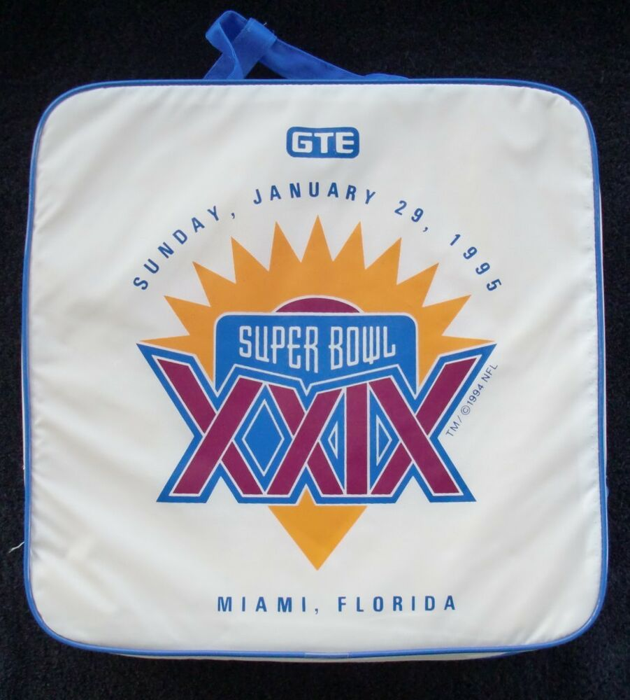 Super Bowl Xxix 29 49ers Chargers Original Seat Cushion