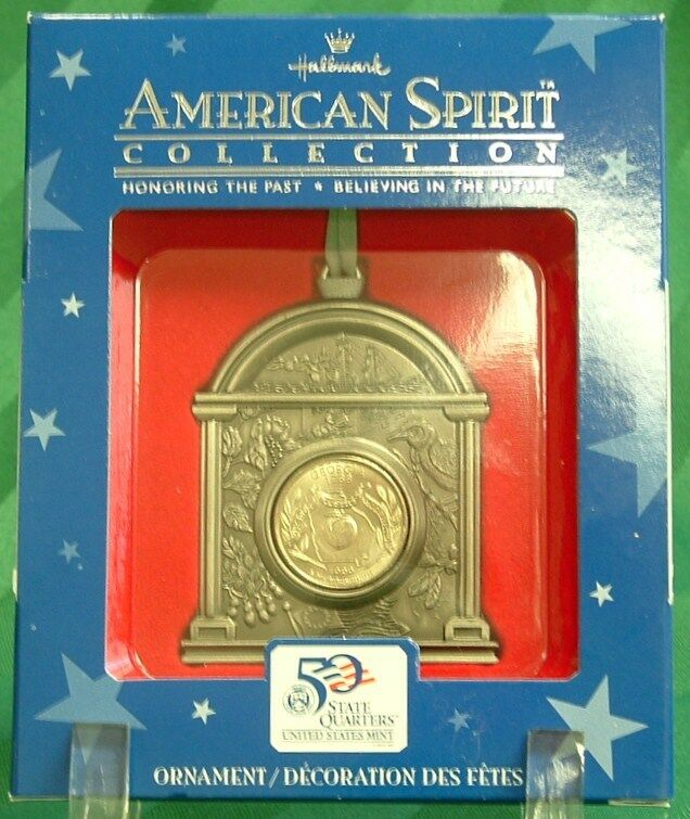 2001 hallmark the american spirit collection quarter ornament for georgia ebay. Black Bedroom Furniture Sets. Home Design Ideas