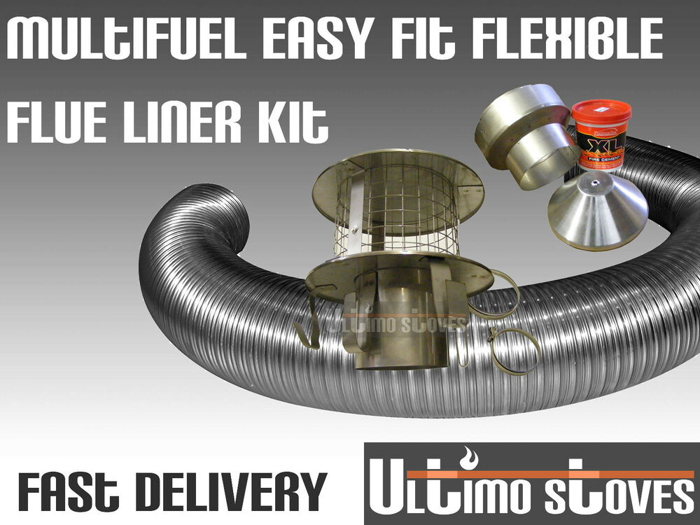 Complete Easy Fit Flexible Stove Flue Chimney Liner