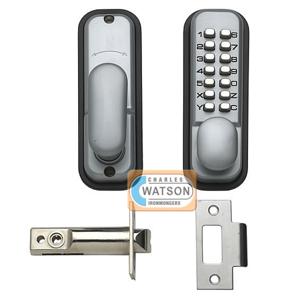 Digital push button door lock key pad code combination access mechanical ebay - Sliding door combination lock ...
