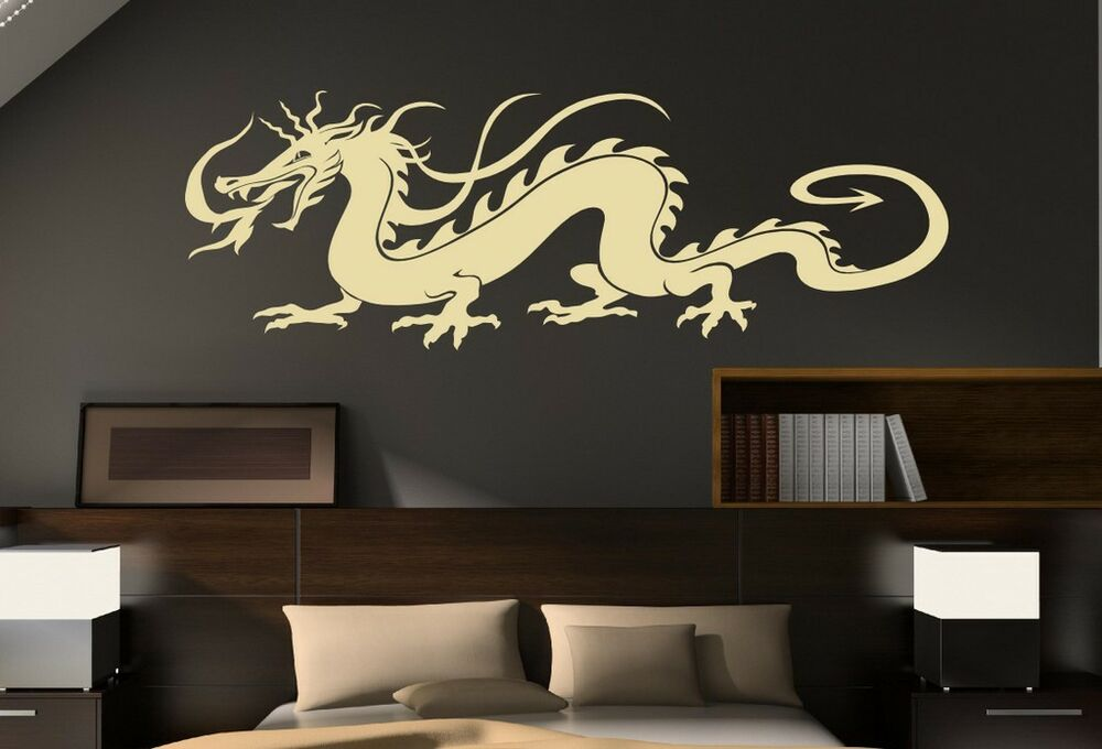 Traditional Chinese Dragon Large Vinyl Wall Stickers Decal