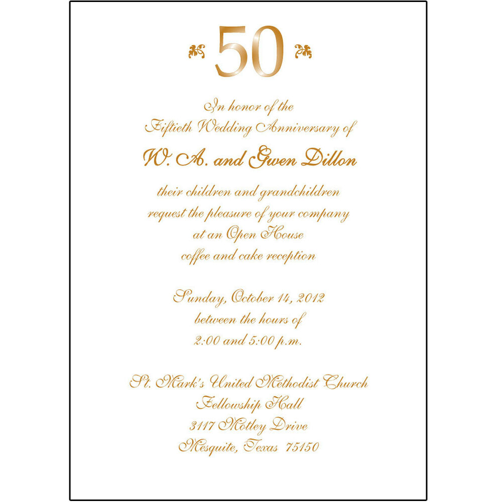Wedding Party Invitations: 25 Personalized 50th Wedding Anniversary Party Invitations