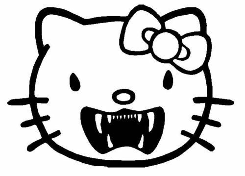 punk hello kitty coloring pages - photo#6